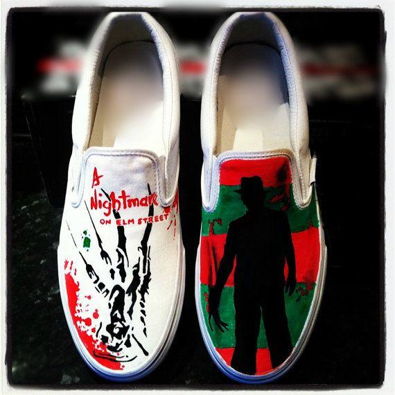 Nightmare On Elm Street Canvas Shoes Freddy by 1428ElmStreet