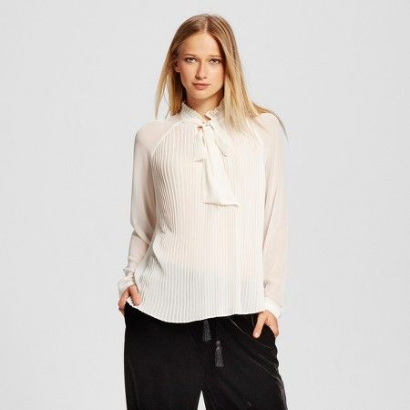 Micro Pleat Bow Blouse - Who What Wear ™ : Target $27.99