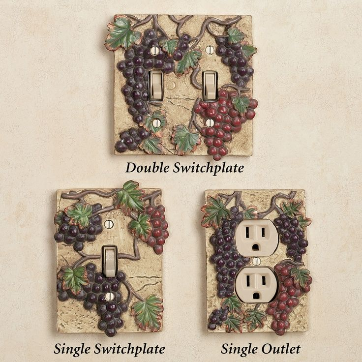 beautiful Wine And Grape Decor For Kitchen #6: grape themed kitchens | Switch plates for your wine/grape theme