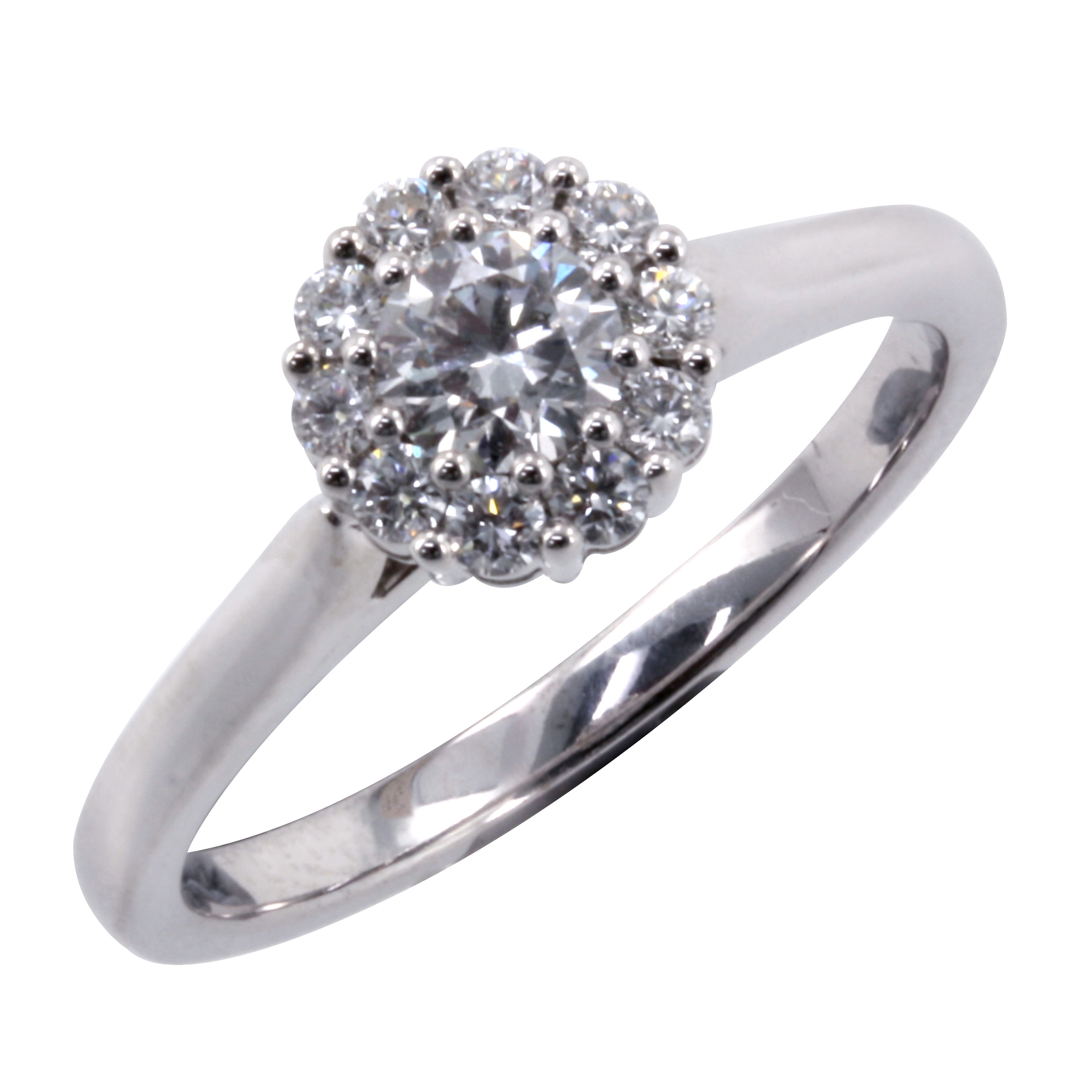 18K White Gold Canadian Fire Diamond Cluster 0.50ct TDW