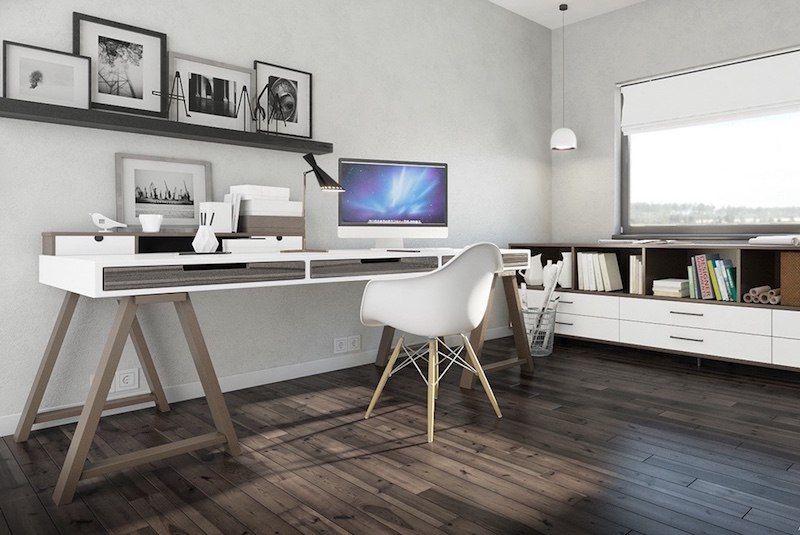 Bureau style scandinave à la maison idées chic et pratiques à