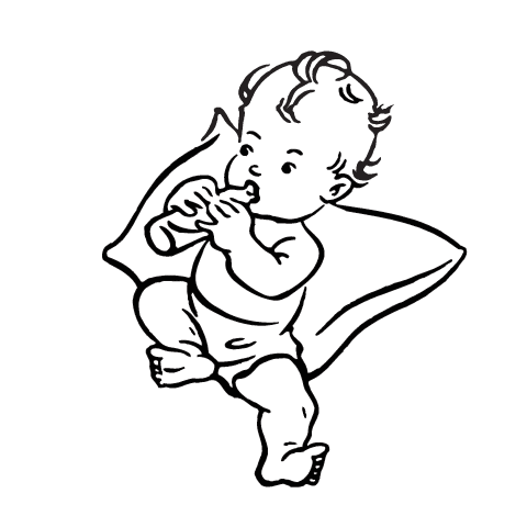 Baby Sleeping Clipart Black And White 45635 Loadtve