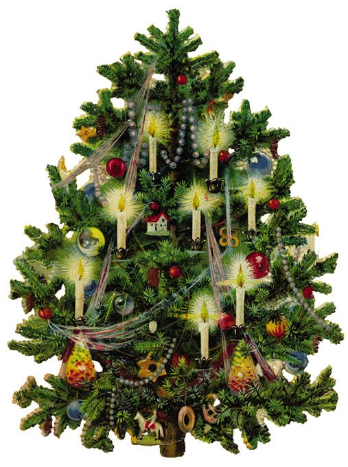 #Free #Vintage #Clip #Art - #Vintage #Christmas #Tree Via  Vintagefeedsacks.blogspot.com - Christmas Lights Over Time The Merry Christmas Shoppe Vintage