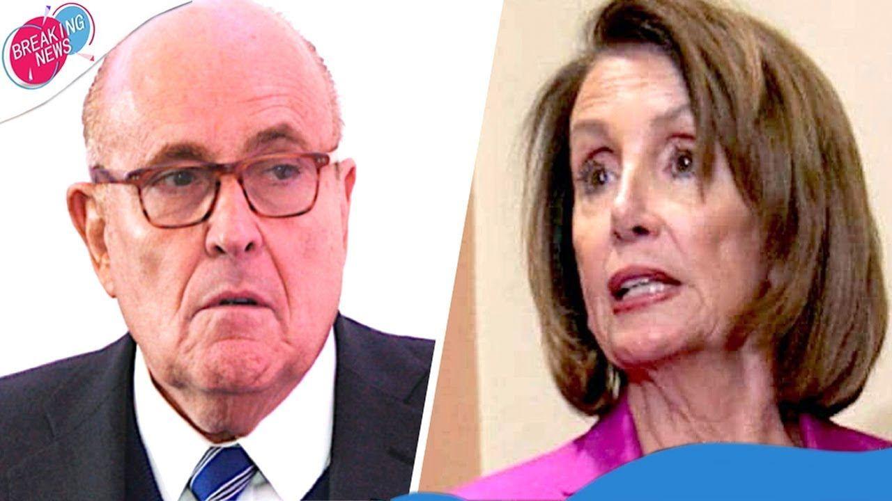Is Nancy Pelosi About To Take Rudy Giuliani Down In 2020 Rudy Giuliani Nancy Pelosi Hold On