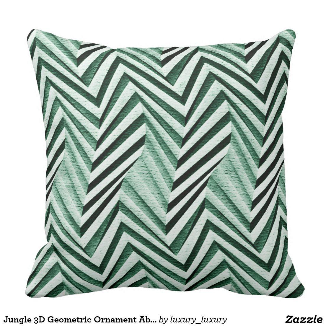 Jungle 3D Geometric Ornament Abstract Minimalism Cushions