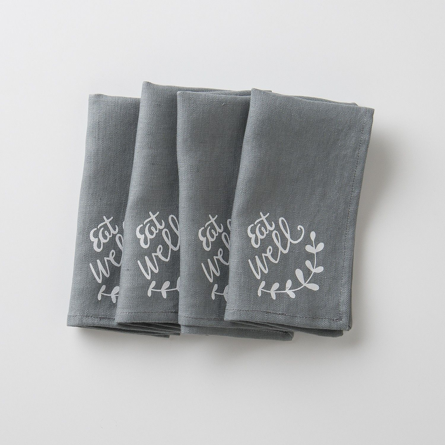 Eat Well Printed Napkin | Linens | Dining + Kitchen