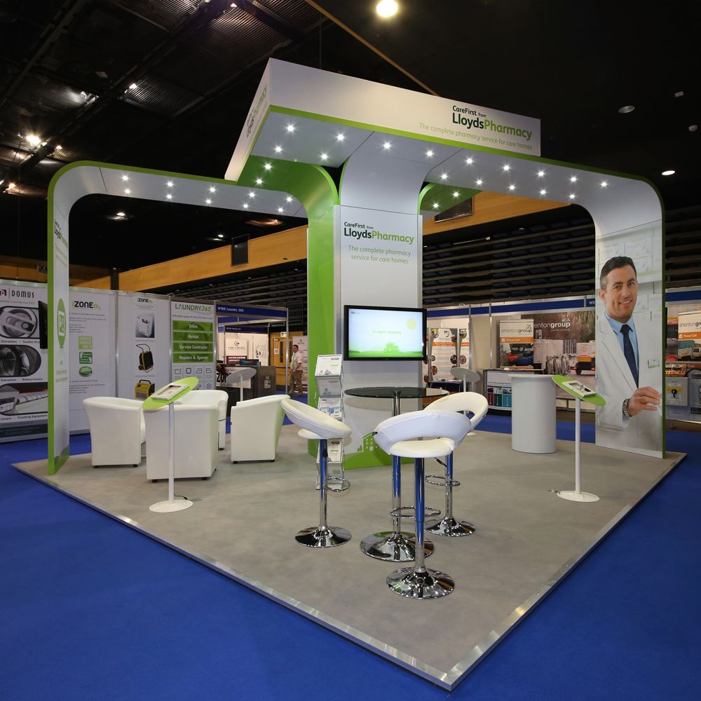 Marketing Exhibition Stand Zone : Lloyds pharmacy care show bournemouth exhibition