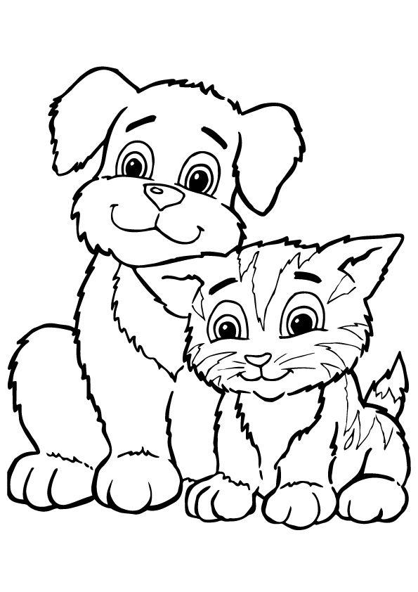print coloring image | Gato y Bordado