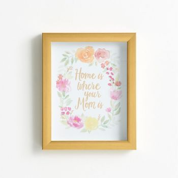 Home Is Where Your Mom Is Frame   Paper source