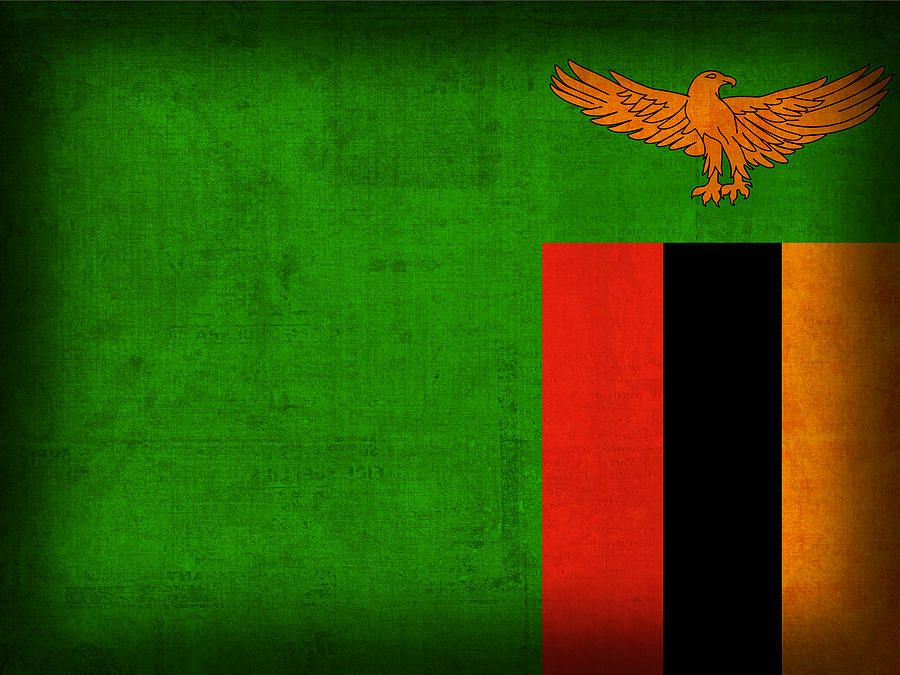 Zambia Flag Distressed Vintage Finish By Design Turnpike Flag Art Zambia Flag Flags Of The World