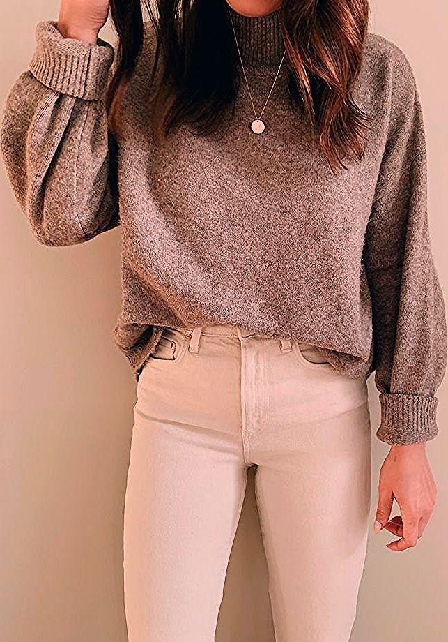 Pullover und weiße Jeans #whitedenim #sweater #fallootd