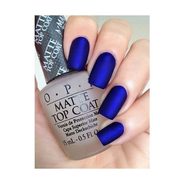 OPI Royal Blue Matte Manicure Opi St Marks The Spot Top Liked On Polyvore Featuring Beauty Products Nail Care Nails Polish