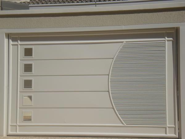 Fabuloso Portão de garagem basculante - Serralheria Barros   Fachada  QC09
