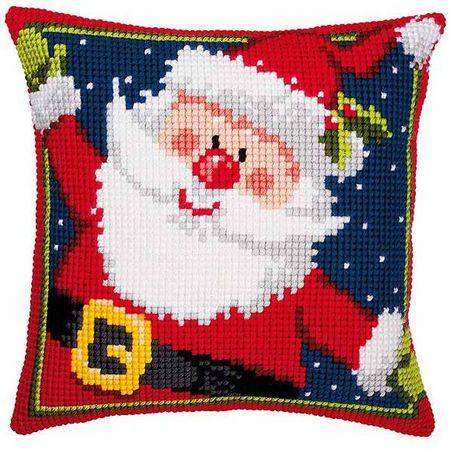 Vervaco stamped cross stitch kit cushion Happy snowman DIY