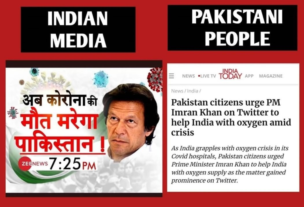 Pakistan citizens urge PM Imran Khan on Twitter to help India with oxygen amid crisis.  As India grapples with the oxygen crisis in its Covid hospitals, Pakistan citizens urged Prime Minister Imran Khan to help India with oxygen supply as the matter gained prominence on Twitter.  Pakistan Prime Minister Imran Khan, COVID-19, Help India