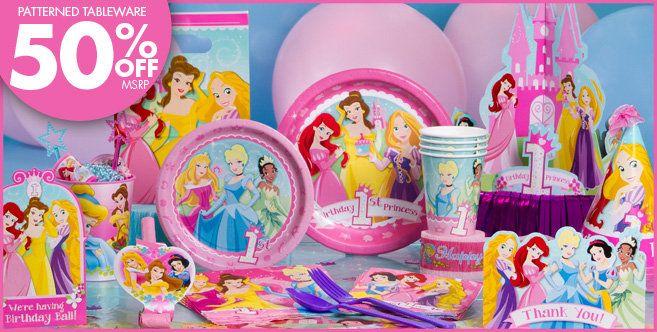 Disney Princess 1st Birthday Party Supplies Decorations
