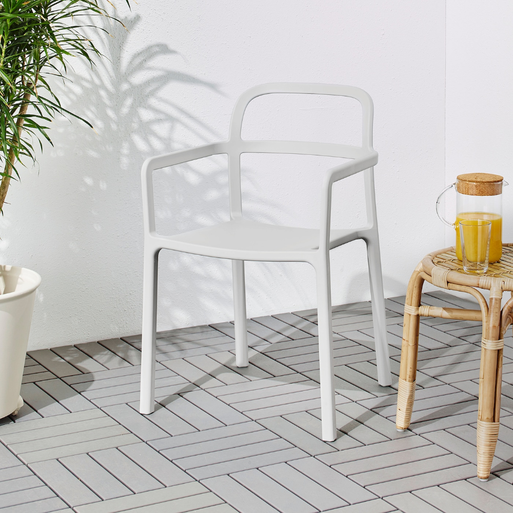 Ypperlig Armchair In Outdoor Light Gray Ikea In 2020 Ikea