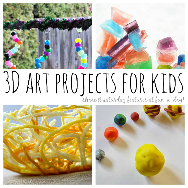 Nice 3d Craft Ideas For Kids Part - 1: 20+ 3D Art Projects For Kids
