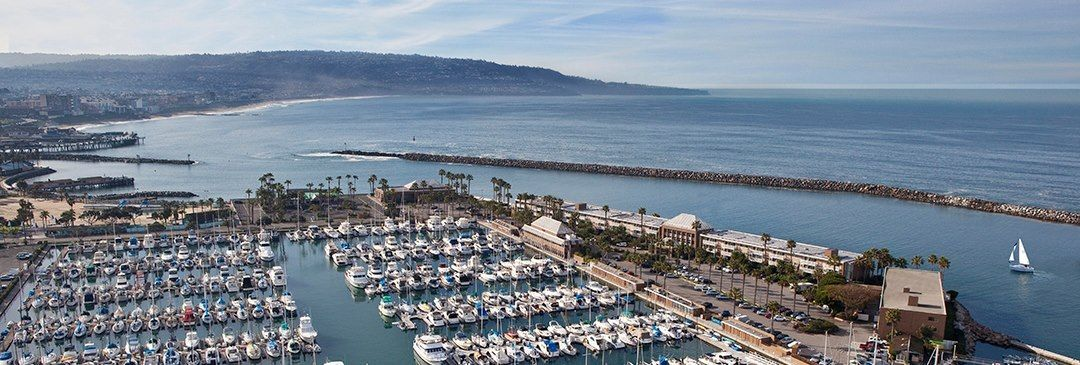 It's always a beautiful day at the Portofino Hotel & Marina in Redondo Beach, California