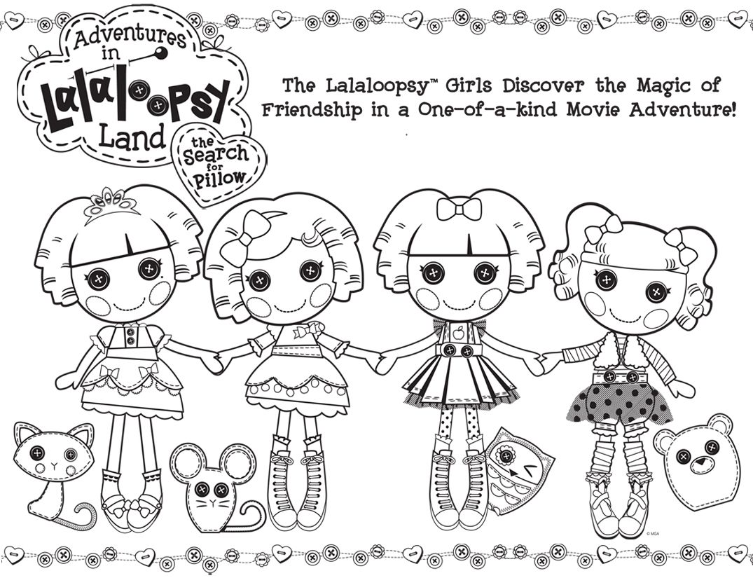 Lalaloopsy coloring page | Coloring Pages for Kids | Pinterest