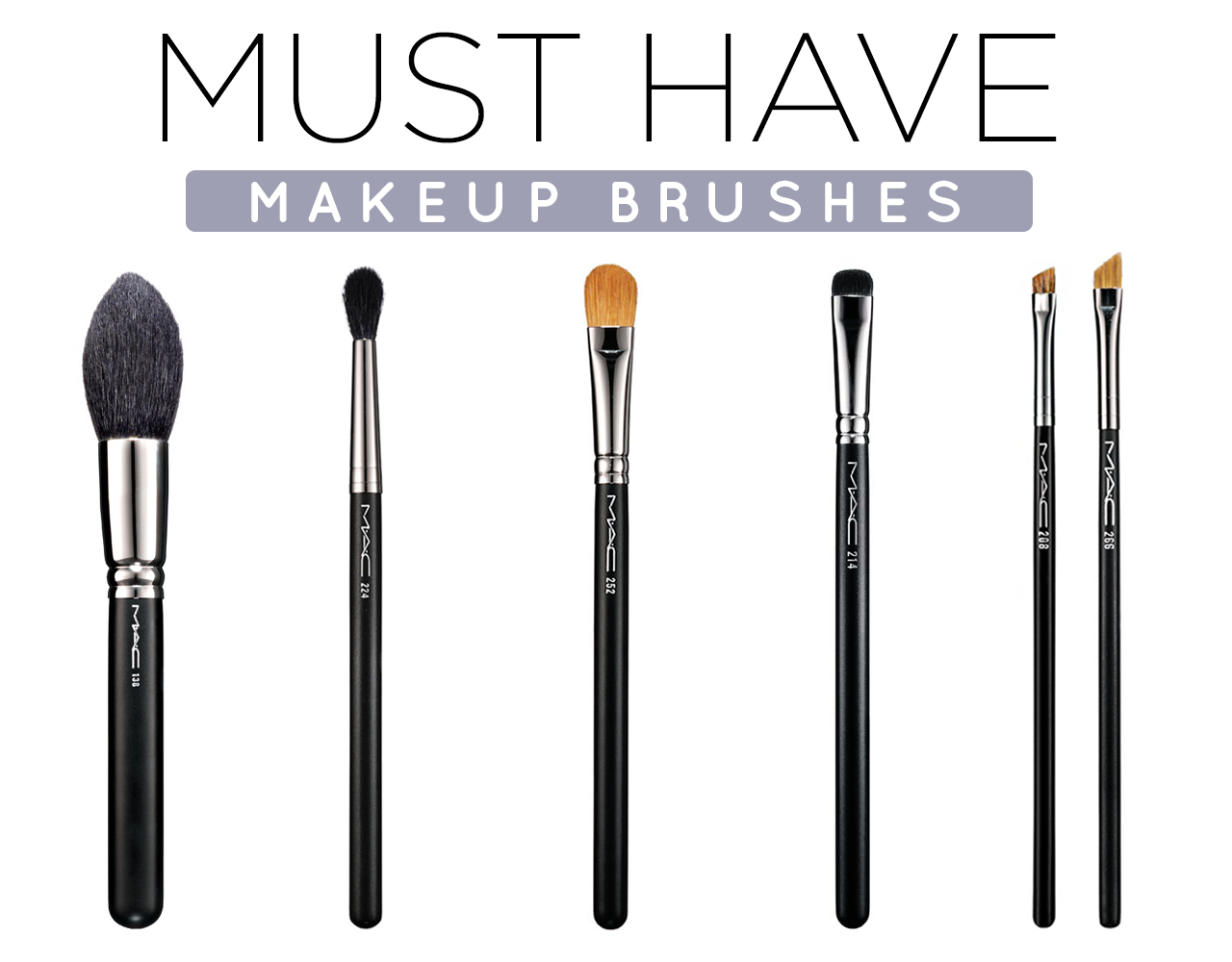 5 Must Have Makeup Brushes for Your Kit ModaMob Makeup