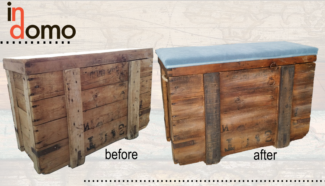 Refurbishment Of Old Wooden Trunk Wooden Trunks Furniture Custom Made Furniture