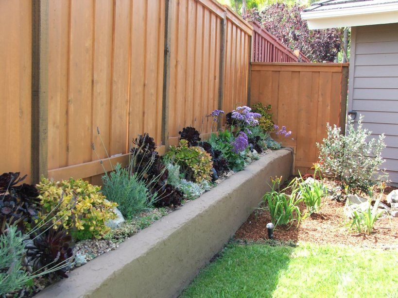 Succulent Raised Planter repainted a darker brown and