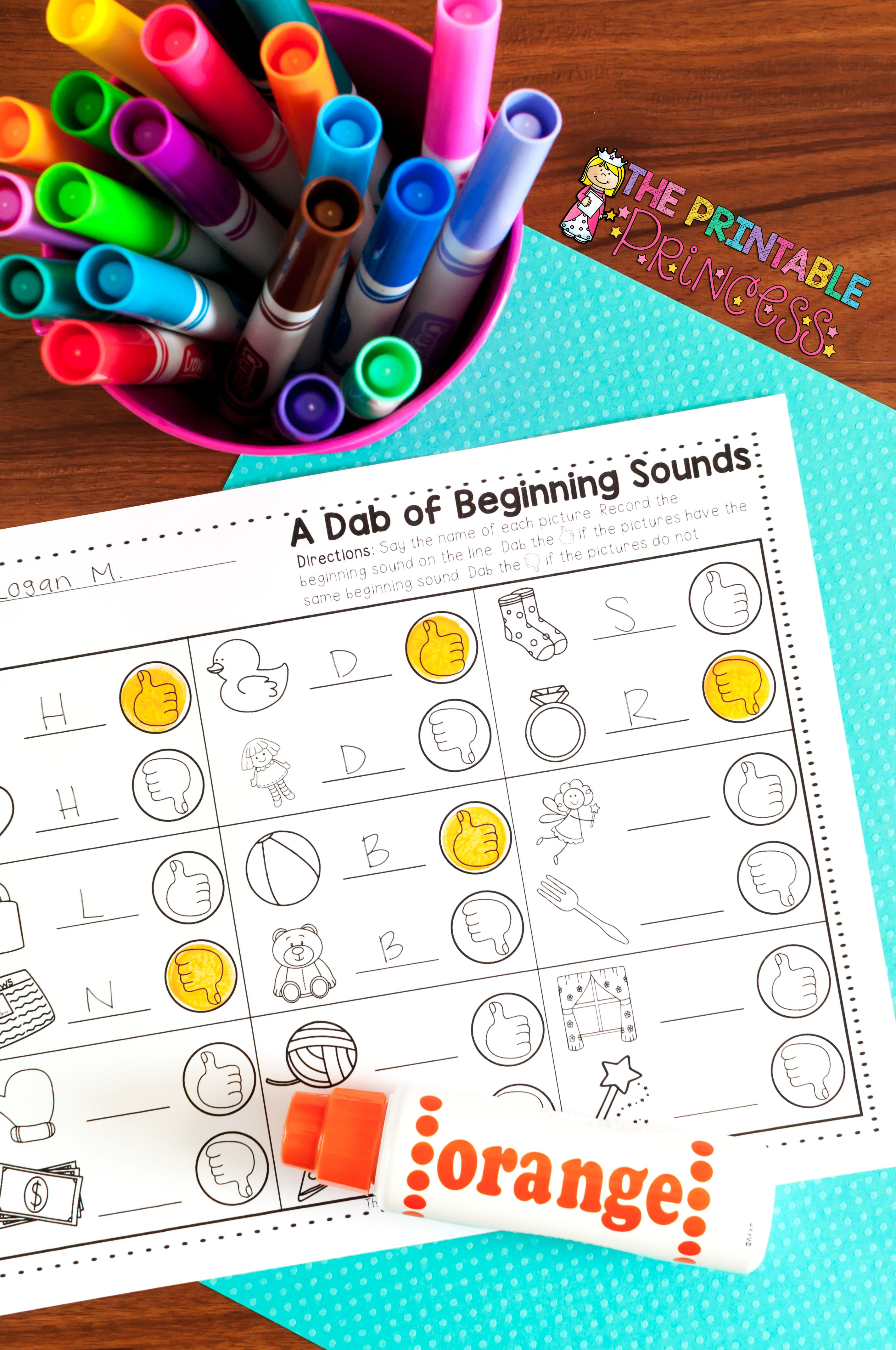 A Dab Of Learning Beginning Sounds Practice