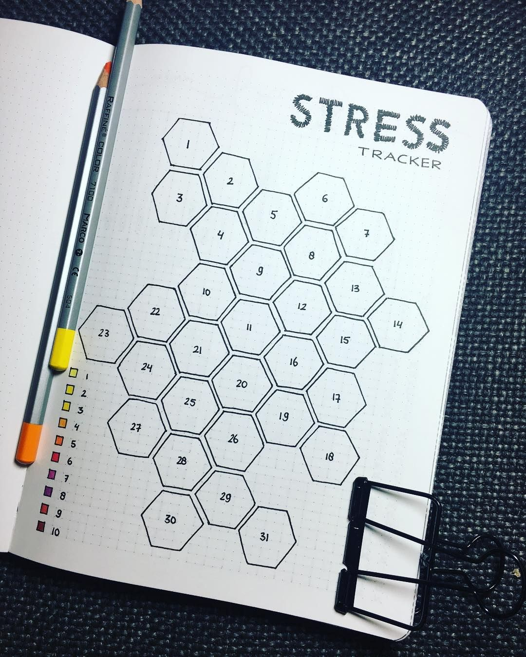 "@ragnasrealm shared a photo on Instagram: ""January stress tracker - I'm aiming for sunny colors 😄  #bulletjournal #bulletjournals #bulletjournalcommunity #bulletjournaling #bujo…"" • Jan 2, 2018 at 7:04pm UTC"