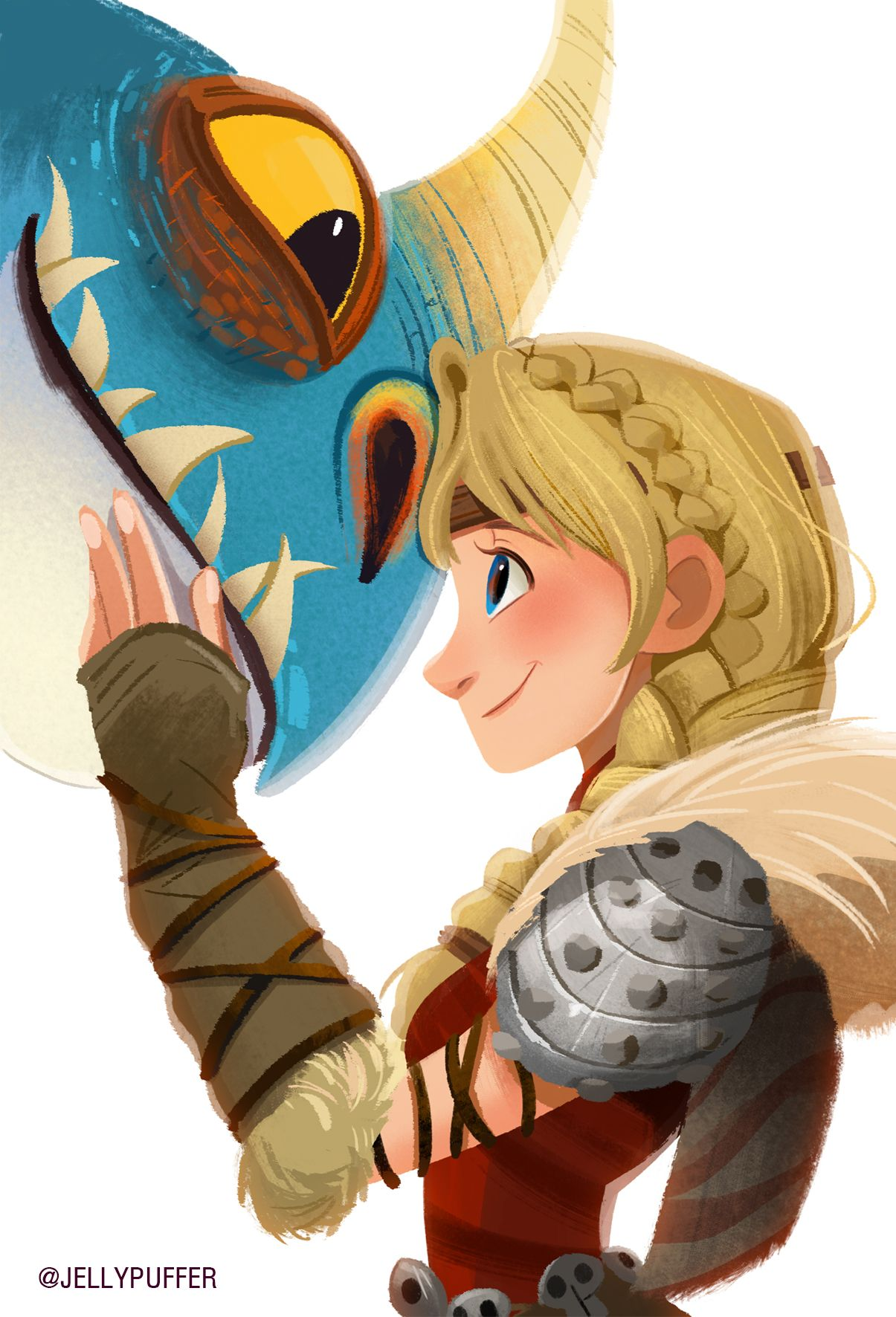 I LOVE this sooo much!  Astrid and Stormfly!