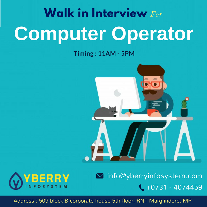 Urgent Openings For #Computer #Operator. Required #Skills: Excellent ...