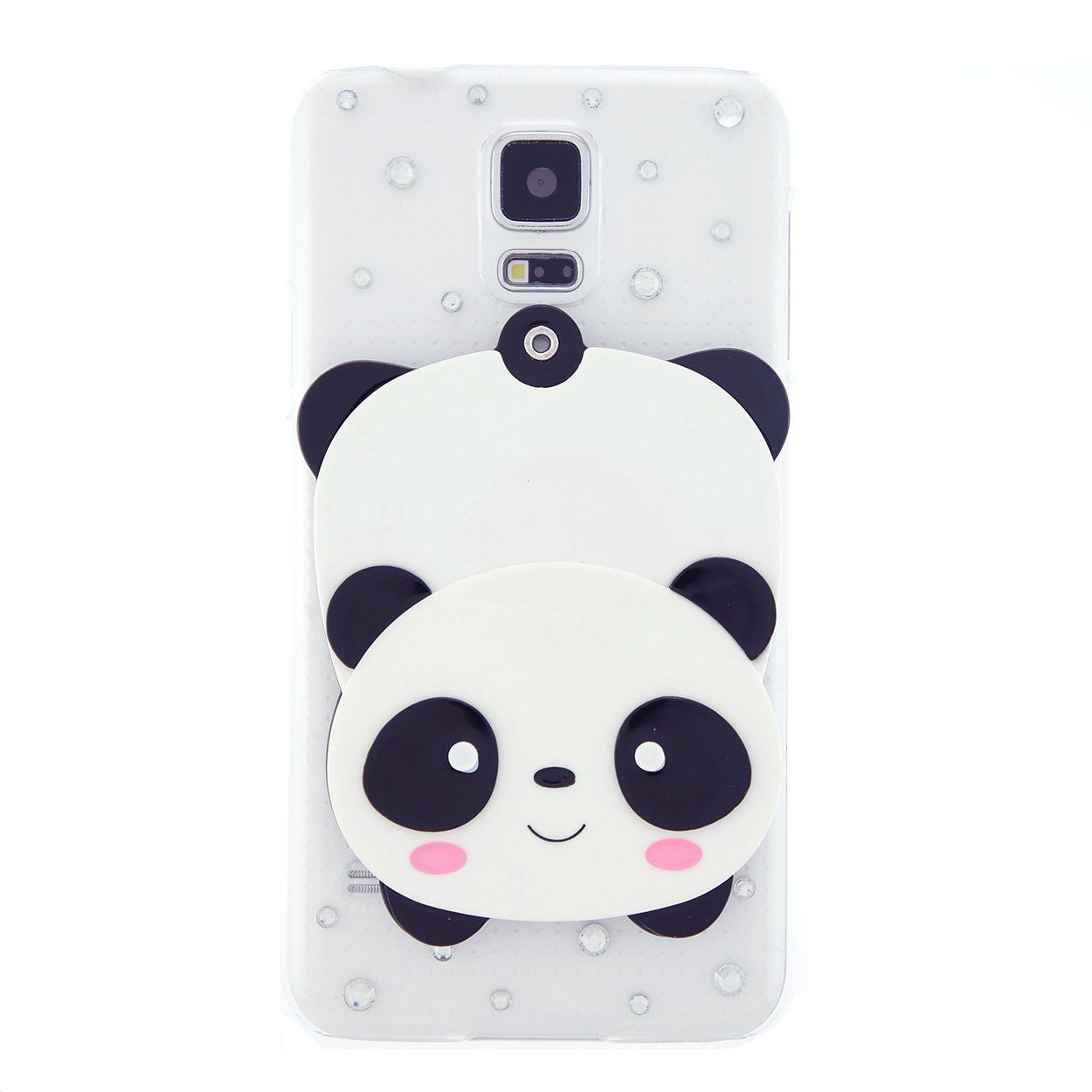 quality design d707d e6dee Amazon.com: CaseBee® - Cute Panda w/ Mirror Samsung Galaxy S5 i9600 ...