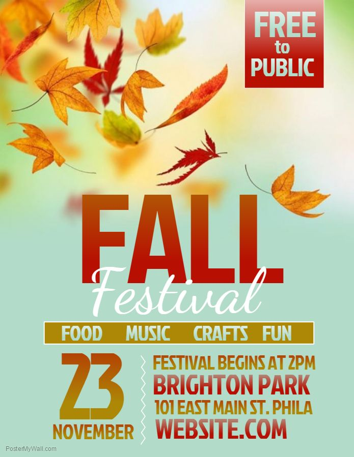 Fall Festival Flyer Template Party Time Ideas Event flyer