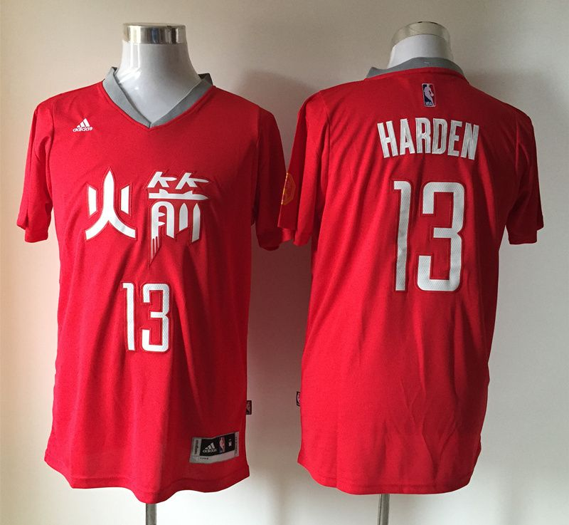 d880a480b NBA Houston Rockets #13 harden red 2015 new Jerseys with chinese word
