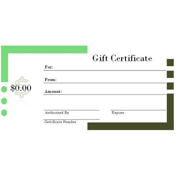 6 Free Printable Gift Certificate Templates for MS Publisher gift