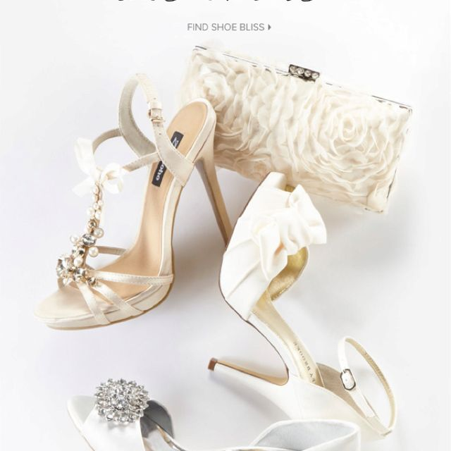 These great bridal shoes available at DSW