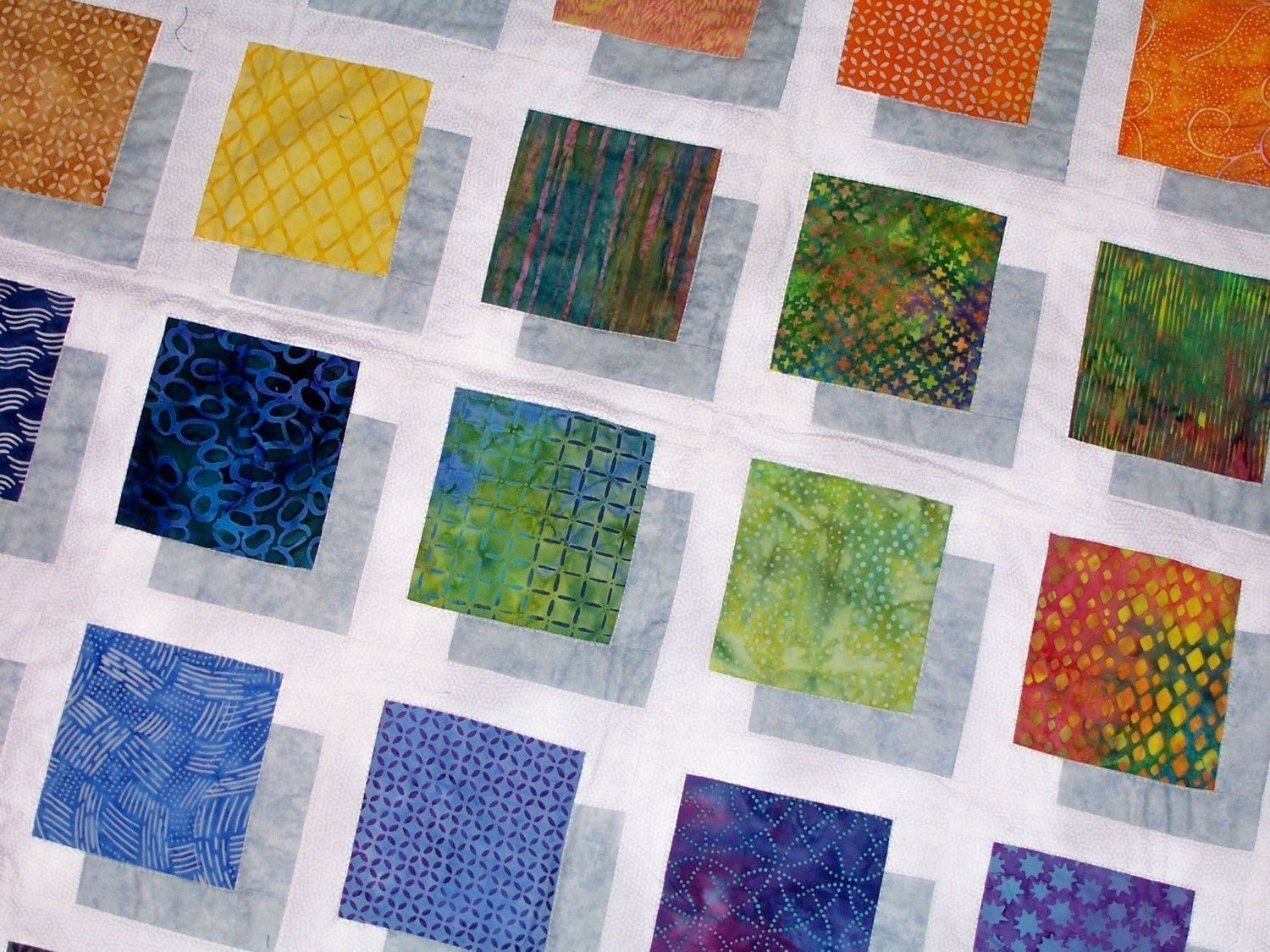 Free Easy Quilt Block Patterns COLOR BLOCK QUILT PATTERN Pattern Make this Stunning Quilt and ...