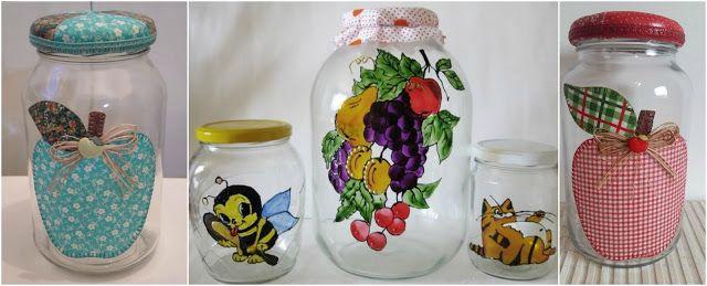 Aprende Cómo Decorar Frascos De Vidrio Reciclados Usando Servilletas Lodijoella Frascos De Cristal Frasco De Vidrio Decoración De Frasco