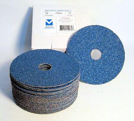 """25 Pack 7/"""" Zirconia Resin Fiber Disc 36 Grit 7 inch Grinding /& Sanding Discs"""