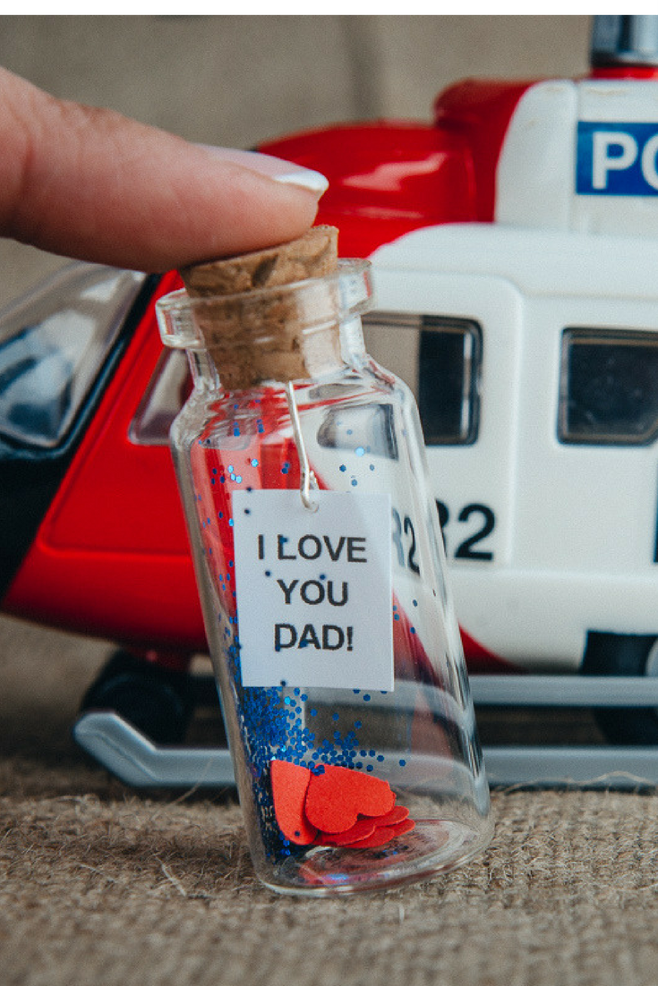 Gift For Dad From Son Father Birthday Daughter Message In A Bottle Papa Fathers Day Daddys Cute To