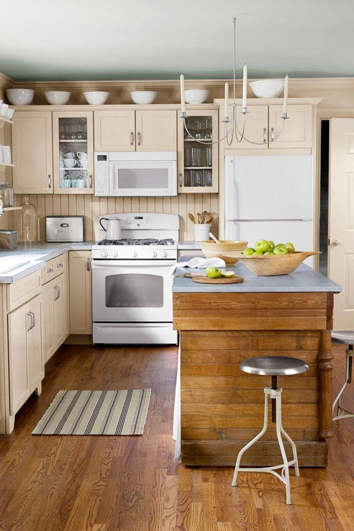 1001 ideas para organizar las cocinas peque as for Colores en cocinas pequenas