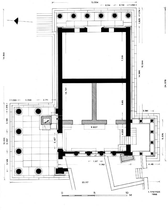 CLASSICAL PERIOD OF GREECE; Plan Of Erechtheion, 421-405