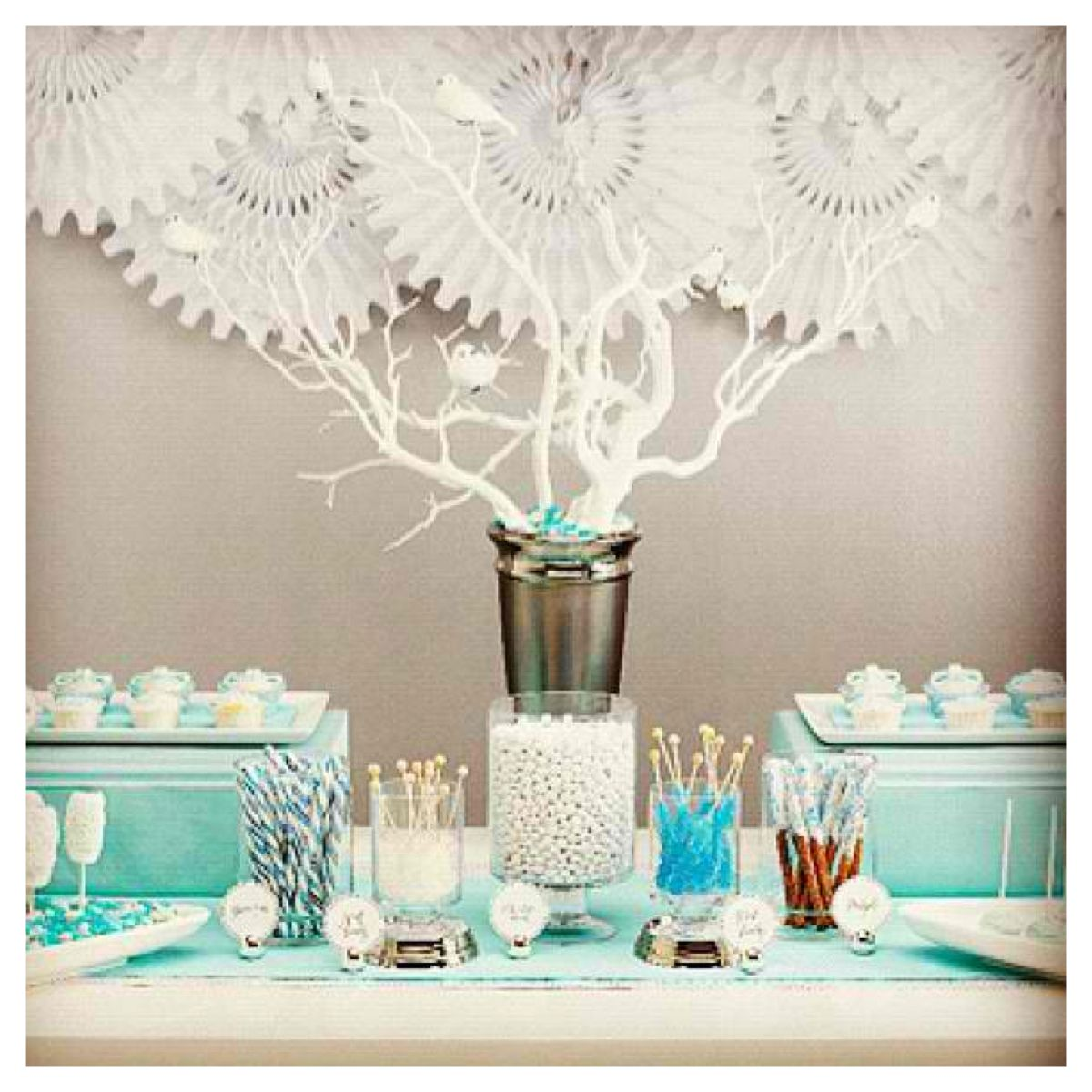 Blue and White Candy Station | babyshower ideas | Pinterest | Bridal ...