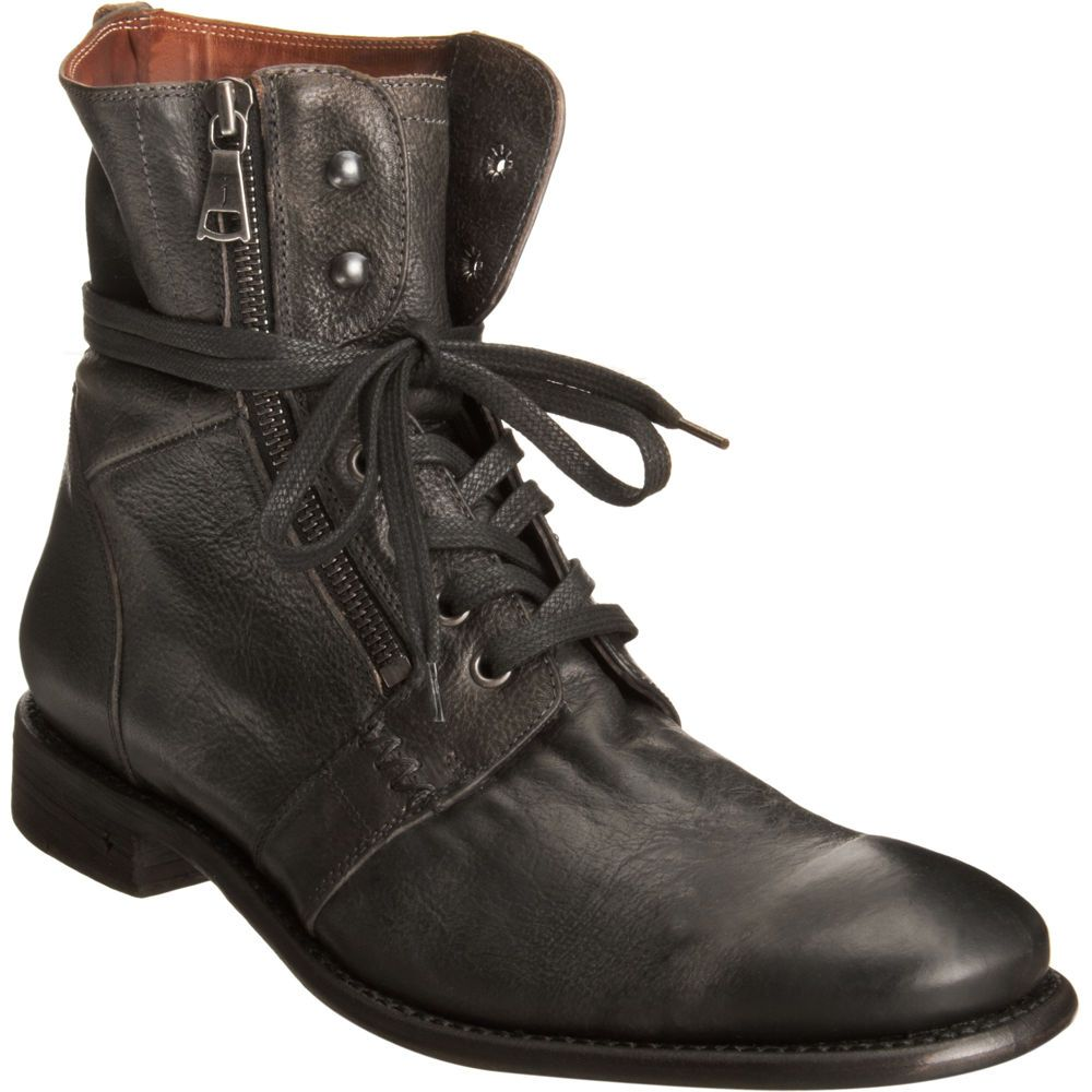 John Varvatos Zip Combat Boot Men Shoes | Cool Men's Shoes | Men's ...