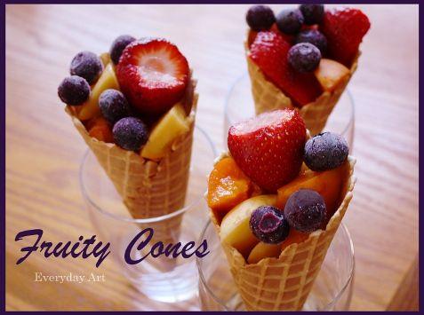 Everyday Art: Fruity Cones