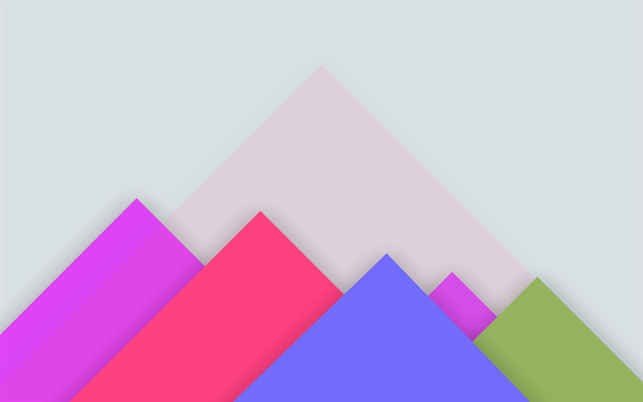 Download Wallpapers Pyramids Mountains Triangles 4k Material Design Colorful Background Android Lollipop Creative Geometric Shapes Geometry Besthqwallp Material Design Colorful Backgrounds Geometric Shapes