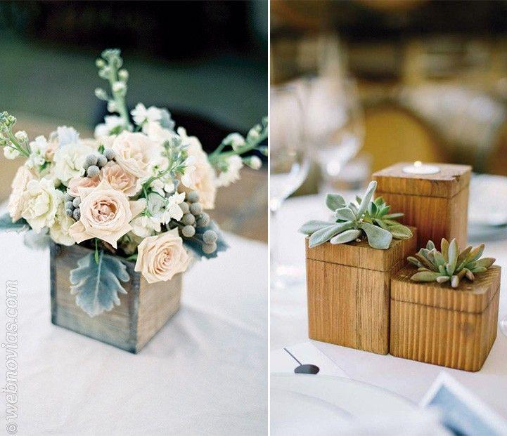 Diy centros de mesa con cajas de madera recicladas - Mesas con cajas de madera ...