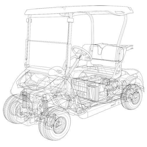 Cutaway illustrations Golf Cart Pinterest Cutaway, Golf carts - best of golf blueprint art