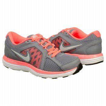 Men's NikeWomen's Dual Fusion ST 3 Running Shoe Grey/ Mango