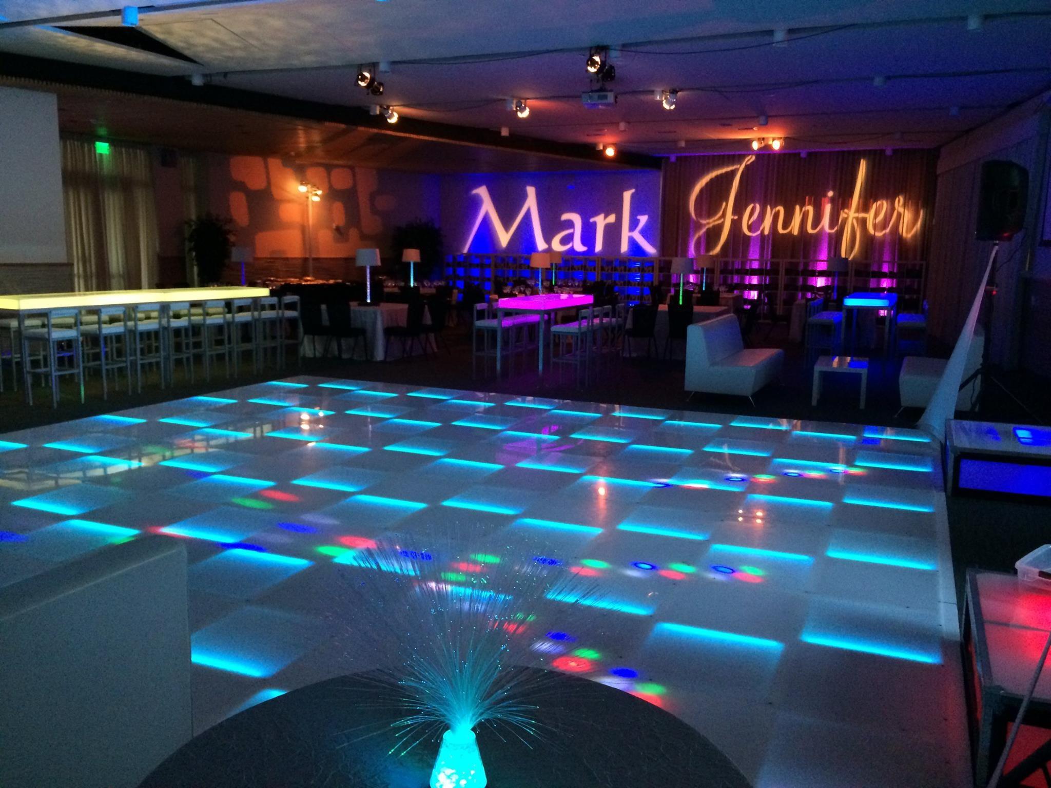 Light Up Dance Floor Lounge Name Gobo Bnai Mitzvah